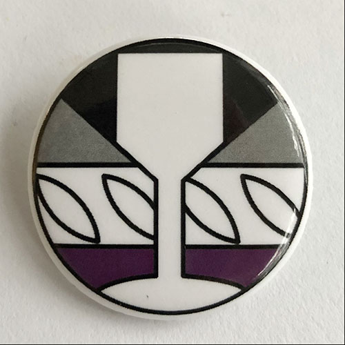 Asexual pride button