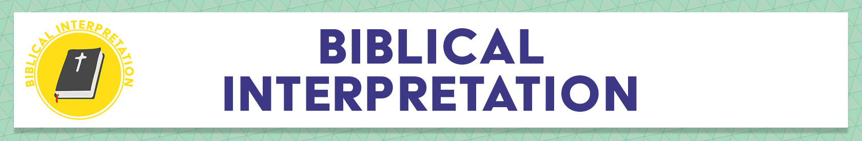 Resources: Biblical Interpretation